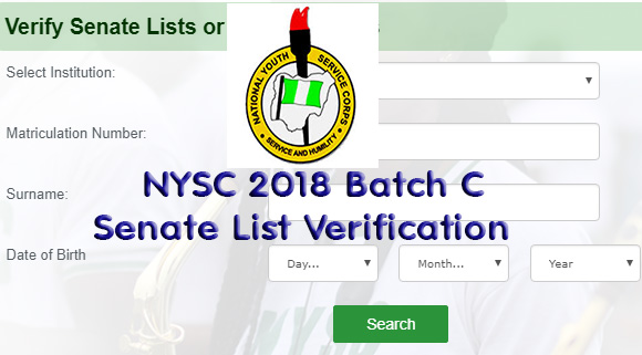 NYSC 2018 Batch C Can Start Checking The Senate List For Their Names Now
