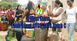 6 Must Know Facts About NYSC 2018 Batch C
