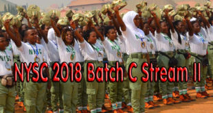 NYSC 2018 Batch C Stream II