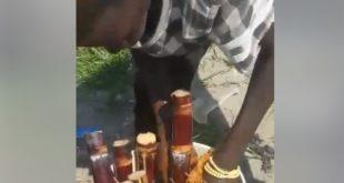 Fruit Seller Caught Using 'gutter Water' To Wash Sugar Cane (PHOTOS)