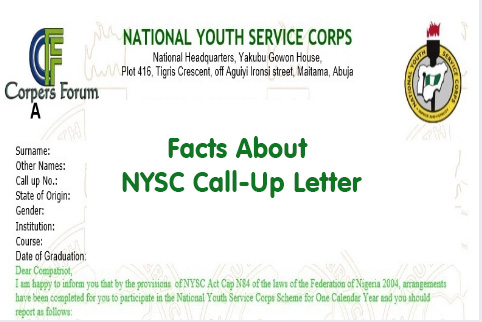 NYSC Call-Up letter