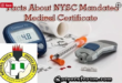 Facts About NYSC Mandated Medical Certificate
