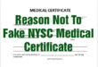 NYSC Medical Certificate