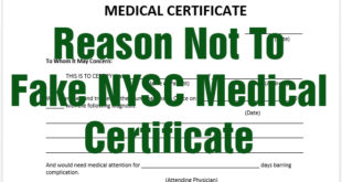 NYSC fitness certificate