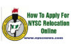 How To Apply For NYSC Relocation