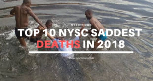 Top 10 NYSC Saddest Deaths In 2018