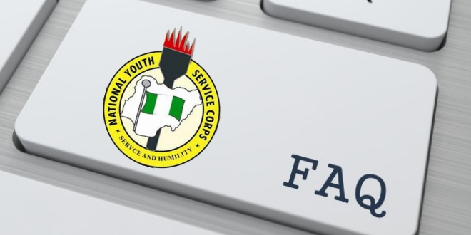 NYSC Registration Frequently Asked Questions