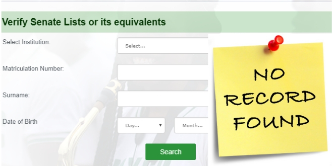 Reasons Your Name Is Not On NYSC Portal