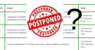 NYSC 2019 Batch A Registration Date Postponement