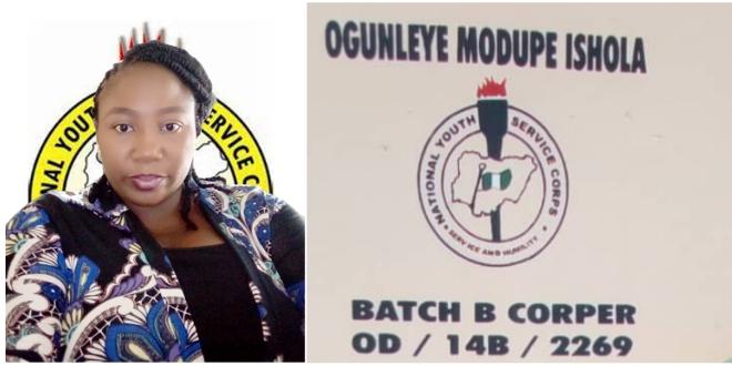 Corper Ogunleye Modupe Ishola Touching Story