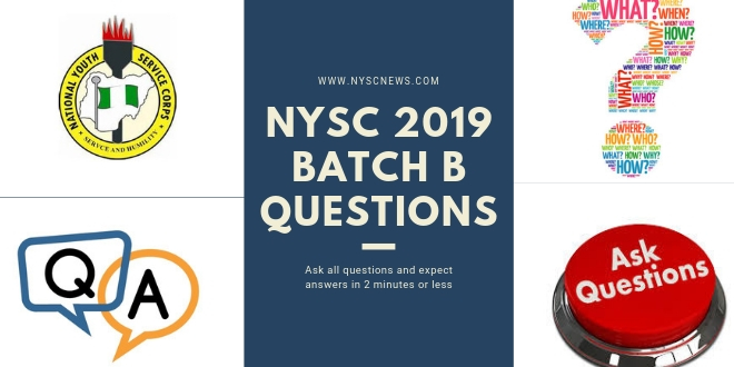 NYSC 2019 Batch B questions