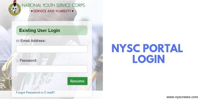 NYSC Portal Login