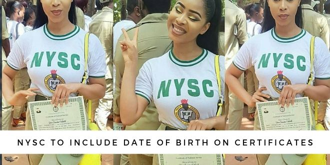 NYSC To Include Date Of Birth On Certificates