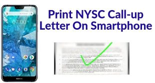 How To Check And Print NYSC Call-Up Letter On Your Phone