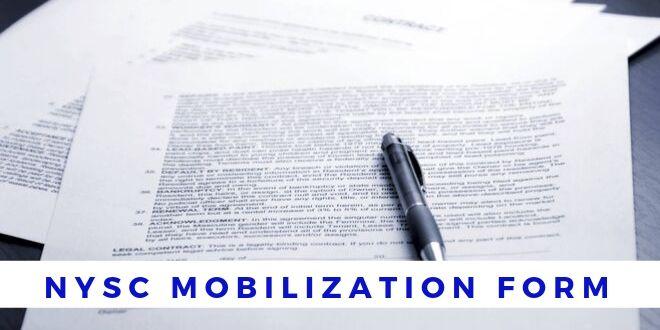 NYSC Mobilization Form