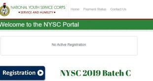 nysc 2019 Batch C Registration
