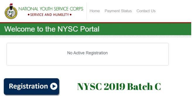 nysc 2019 Batch C Registration