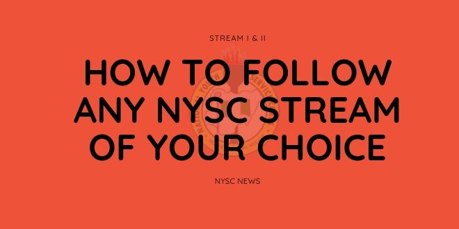 how to follow any nysc stream