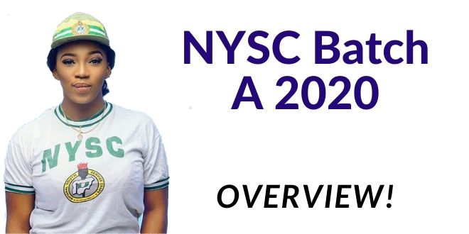 NYSC Batch A 2020 Overview