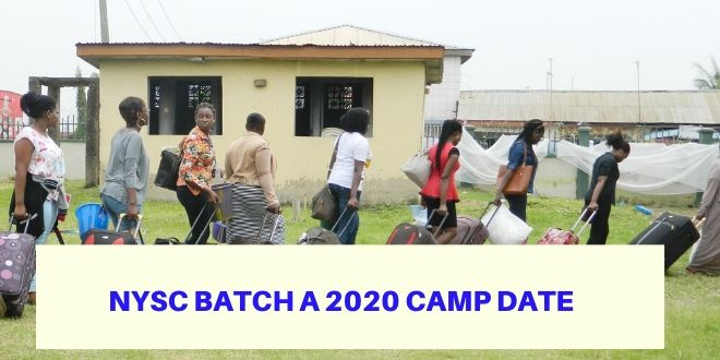 NYSC Batch A 2020 Camp Date