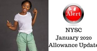 NYSC January 2020 Allowance Update