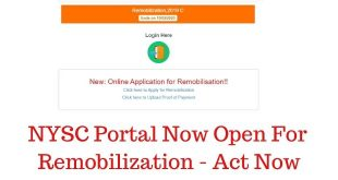 NYSC Portal Now Open For Remobilization - Act Now