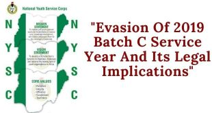 Evasion Of 2019 Batch C Service Year And Its Legal Implications