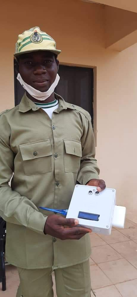 A Corps Member Durodola Invents T-Smart Device To Fight Covid-19