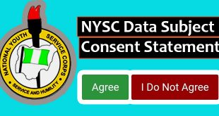 NYSC Data Subject Consent Statement