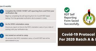 Covid-19 Protocol For 2020 Batch A & B