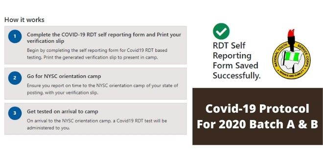 Covid-19 Protocol For 2020 Batch A & B