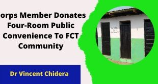 Corps Member Donates Four-Room Public Convenience To FCT Community