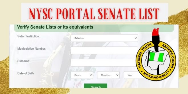 NYSC Portal Senate List