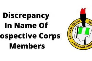 Discrepancy In Name Of Prospective Corps Members
