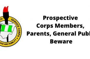 Prospective Corps Members, Parents. General Public Beware