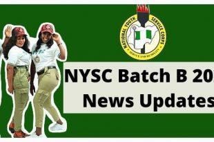 NYSC Batch B 2021 News Updates