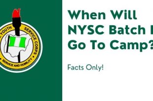 When Will NYSC Batch B 2021 Go To Camp?