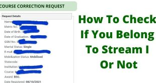 How To Check If You Belong To Stream I Or Not