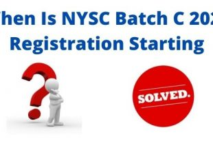 When Is NYSC Batch C 2021 Registration Starting